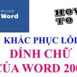 Hướng dẫn sửa lỗi dính chữ trong word 2007